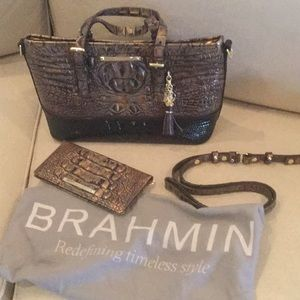 Brahmin Mini Asher Handbag and Ady Wallet